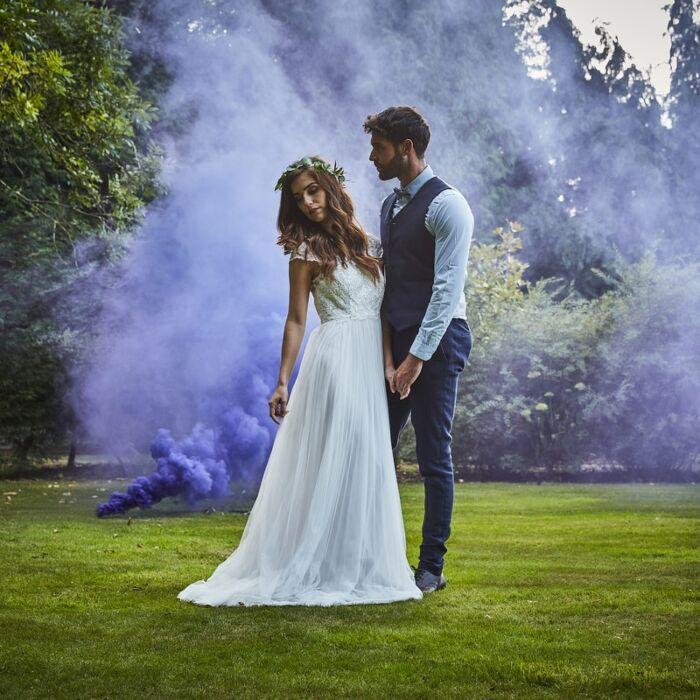 Fumigène Mariage Violet