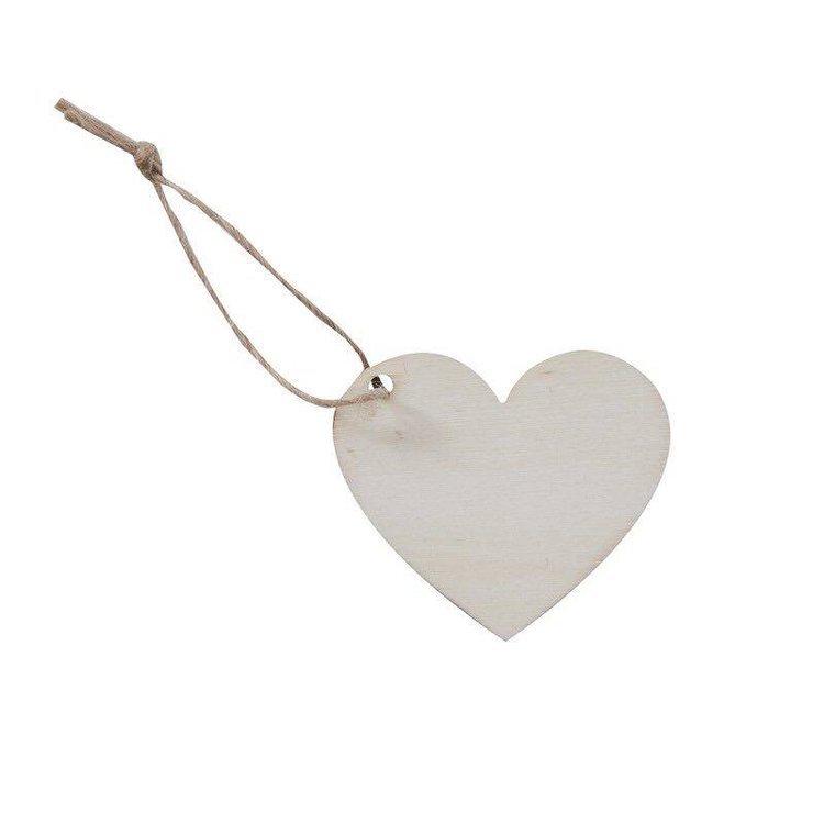 6 marques places Coeur en bois