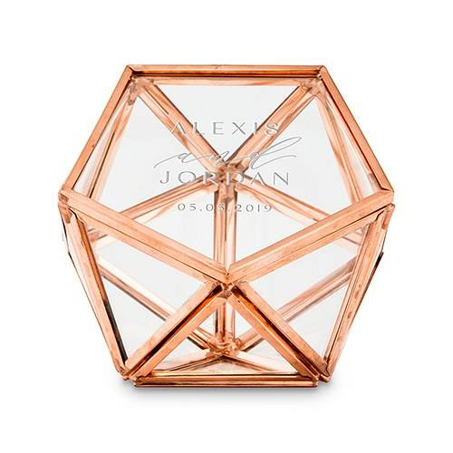 Boite à alliances hexagonale personnalisée