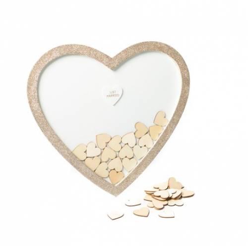 Livre d\'or Cadre en forme de Coeur pailletés