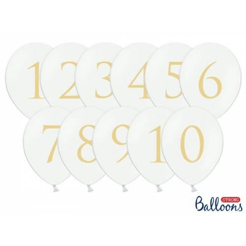 11 Ballons pour numéro de table
