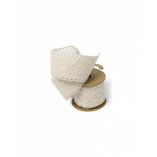Rouleau de dentelle beige adhésive 5cm * 2 M