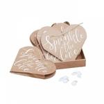 10 Coeurs kraft pour confettis mariage