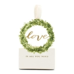 10 boites à dragées Couronne laurier Love sur fond blanc
