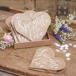 10 Coeurs kraft pour confettis mariage présentation