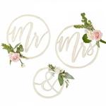 Cercles Mr & Mrs en bois