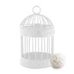Mini cage à oiseau blanche décorative