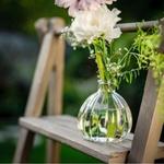 Vase boule retro présentation