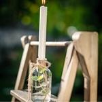 Vase Bouteille en verre présentation