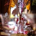 Vase ciselé en verre présentation