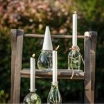 Vase forme Goutte verre avec bougie