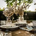 Vase Gravure Boheme Rond sur table