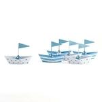6 bateaux en métal pour confiseries