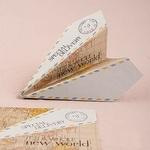 25 marque place avion vintage en origami gros plan
