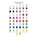 24 stickers Motif Boussole nuancier
