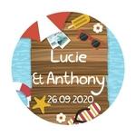 24 stickers Vacances d'été : Lune de Miel