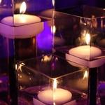 3 Grandes Bougies Flottantes vase
