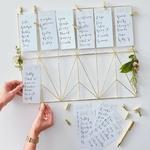 Plan de table doré mariage