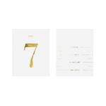 15 Numéros table bouteille autocollant Gold2