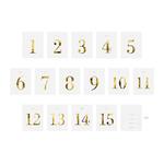 15 Numéros table bouteille autocollant Gold mariage
