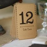 12 Numéros de table Kraft mariage