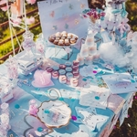 6 deco table Gender reveal party4