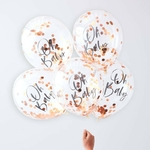 5 ballons Oh Baby rose gold2