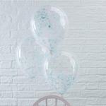 5 ballons avec confettis bleus2