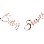 Guirlande Baby Shower rose gold