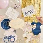 Kit à photobooth Mixte Gender Reveal Party