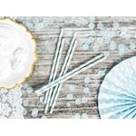 10 pailles à rayures bleues clair3