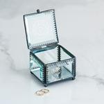 Boite à bijou monogramme en verre personnalisable3