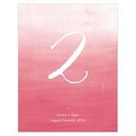 12 numéros de table Tie-Dye personnalisables5