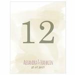12 numéros de table carton Filigrane naturel personnalisés2