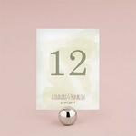 12 numéros de table carton Filigrane naturel personnalisés1