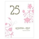 12 numéros de table Esprit Floral Vintage personnalisables3