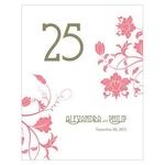 12 numéros de table Esprit Floral Vintage personnalisables1