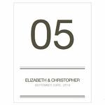 12 cartons numéros de table Classique personnalisables1