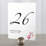 12 numéros de table carton fleur de cerisier personnalisables1