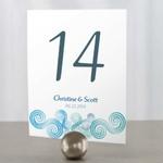 12 numéros de table carton Spirales bleues personnalisables2