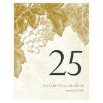 12 numéros de table carton Vigne personnalisables5