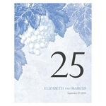 12 numéros de table carton Vigne personnalisables3