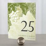 12 numéros de table carton Vigne personnalisables2