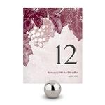 12 numéros de table carton Vigne personnalisables1