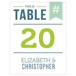 12 numéros de table carton HASHTAG personnalisables2