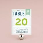 12 numéros de table carton HASHTAG personnalisables1