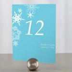 12 numéros de table motifs étoiles dhiver personnalisables1