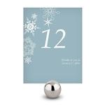 12 numéros de table motifs étoiles d'hiver personnalisables2