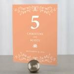 12 numéros de table carton Branches de fleurs personnalisables1