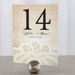 12 Numéro de table dentelle à personnaliser2